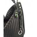 Kožená černá velká kabelka na rameno Justin