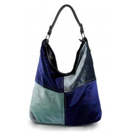 Moderní čtyřbarevná modrá kabelka Rimini winter