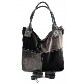 Moderní čtyřbarevná černá kabelka Rimini winter two