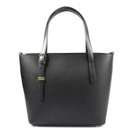 Kožená luxusní černá kabelka přes rameno mirabelle