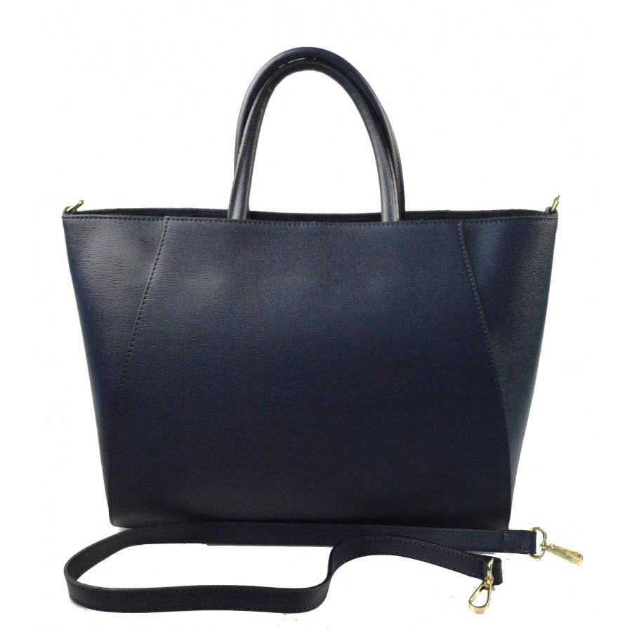 Kožená luxusní tmavě modrá kabelka přes rameno Daveney