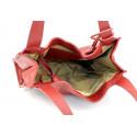 Kožená luxusní vínová až bordó kabelka přes rameno darci