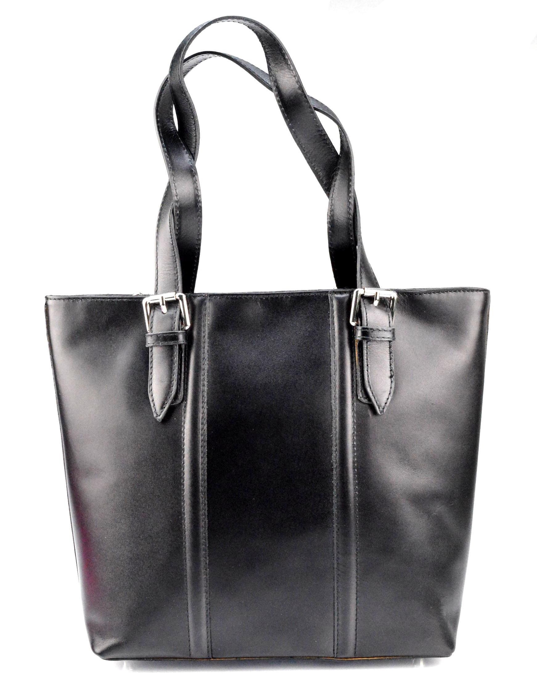 Kožená černá kabelka přes rameno belangi