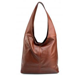 Kožená hnědá brown taška na rameno feris