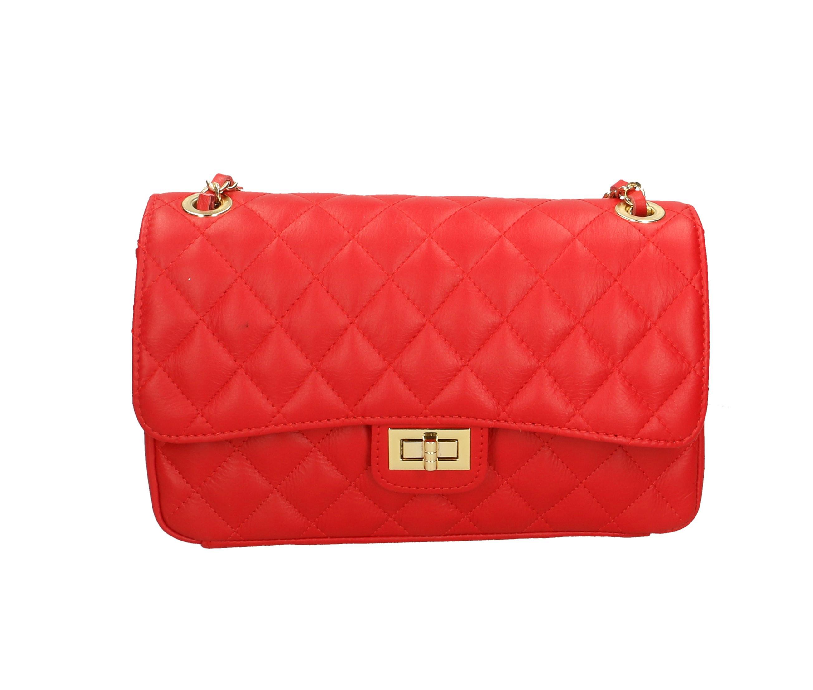 Kožené luxusní větší červená bordó psaníčko benetia