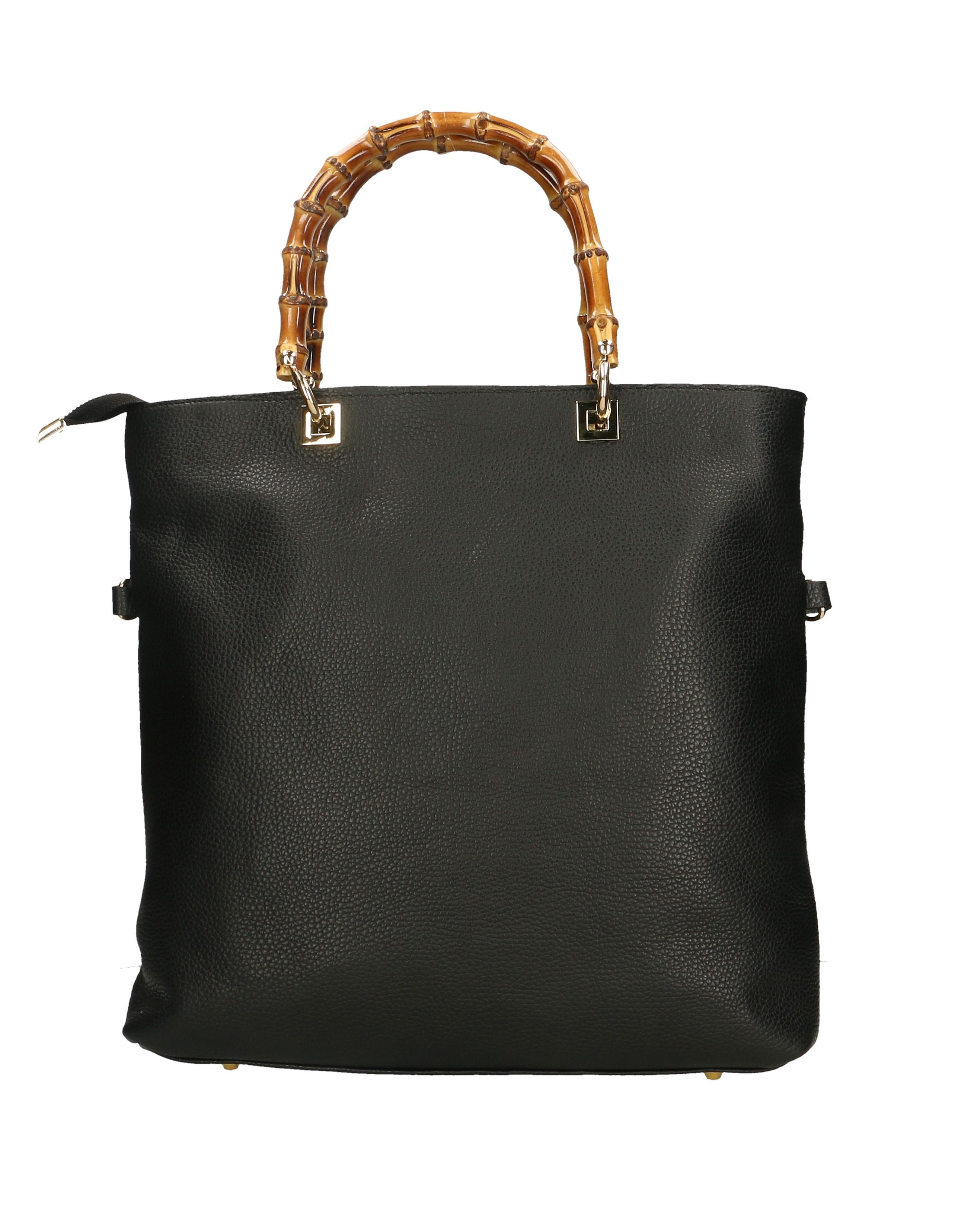 Kožená luxusní černá shopper kabelka kabelka do ruky laura