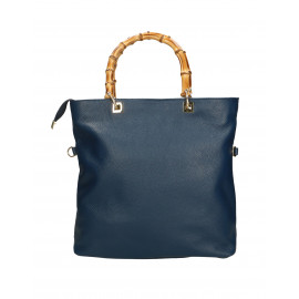 Kožená luxusní modrá shopper kabelka kabelka do ruky laura
