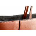 Kožená luxusní hnědá brown kabelka přes rameno daveney