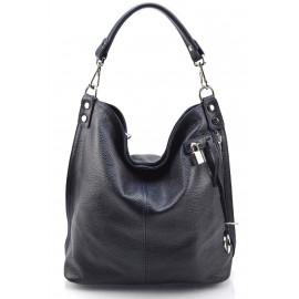 Kožená luxusní tmavě modrá kabelka přes rameno denice