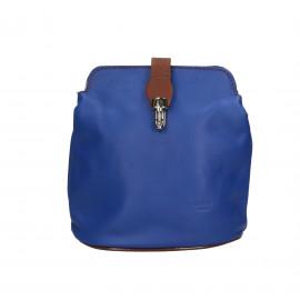 Kožená sytě modrá crossbody kabelka deana