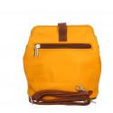 Kožená hořčicově žlutá crossbody kabelka deana