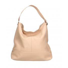 Kožená luxusní růžová kabelka přes rameno laurel