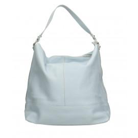 Kožená luxusní světle modrá kabelka přes rameno Laurel