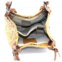 Kožená koňaková hnědá kabelka na rameno Madeleine Two