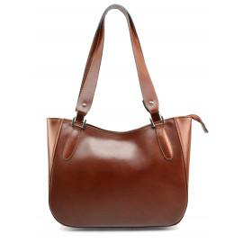Kožená hnědá brown kabelka přes rameno tinian