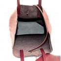 Kožená červená bordó shopper taška na rameno melani two