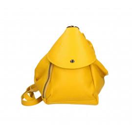 Praktický luxusní žlutý kožený menší batůžek alexis