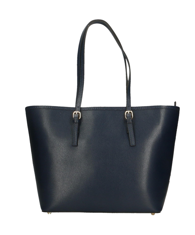 e556f5d3e125 Nové Kožená luxusní velká tmavě modrá kabelka přes rameno alisane