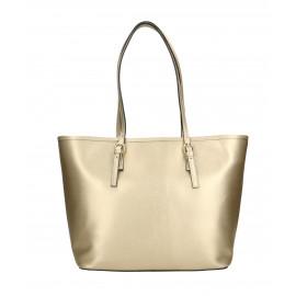Kožená luxusní velká zlatá kabelka přes rameno alisane