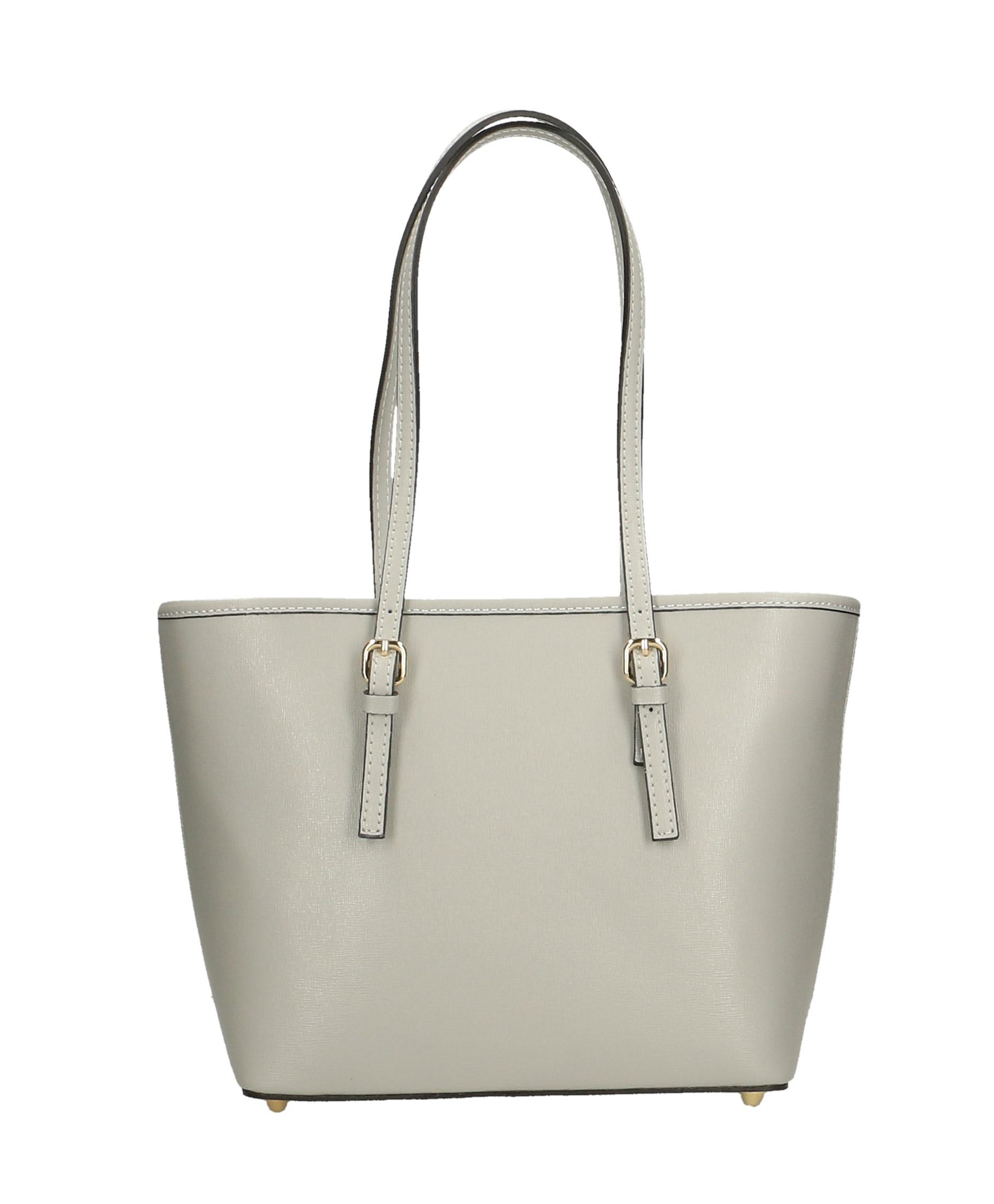 Kožená luxusní šedá kabelka přes rameno alisane little