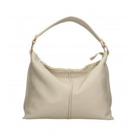 Kožená velká šedá taška na rameno clarita