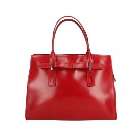 Kožená menší červená kabelka do ruky joley