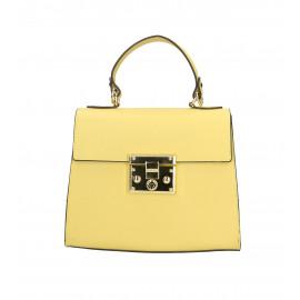 Kožená malá žlutá kabelka do ruky samantha