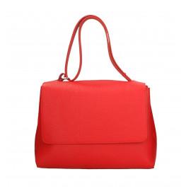 Kožená sytě červená kabelka dixi