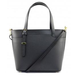 Kožená luxusní tmavě šedá kabelka přes rameno mirabelle
