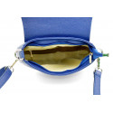 Kožená sytě modrá crossbody kabelka lexie