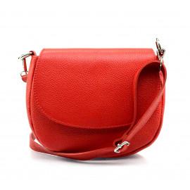 Kožená červená crossbody kabelka lexie