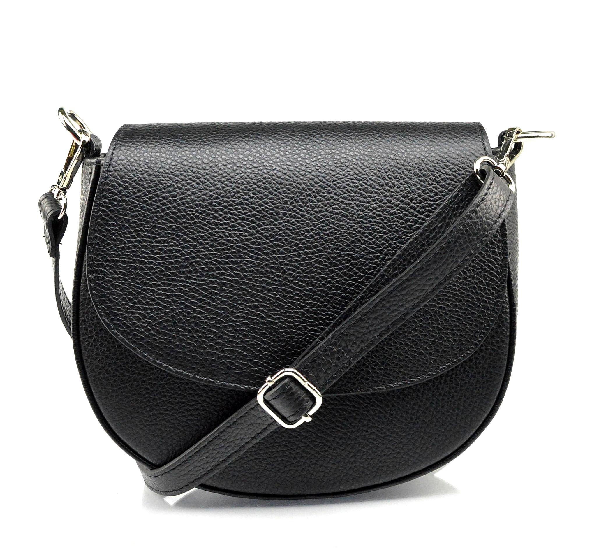 Kožená černá crossbody kabelka Lexie