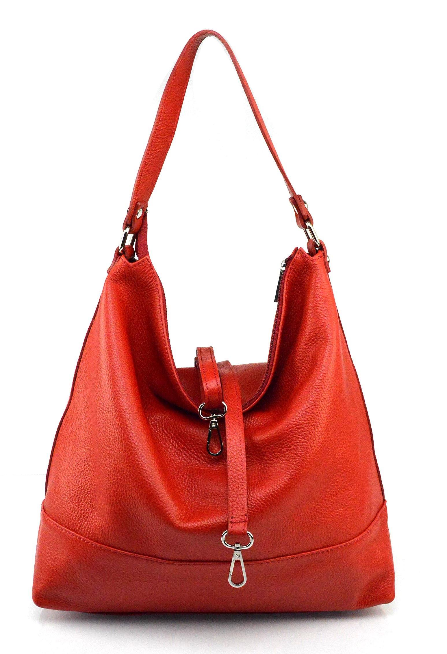 29a5707ba3 Kožená luxusní sytě červená kabelka přes rameno laurel - KabelkyZeSveta