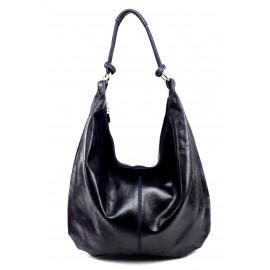 Kožená tmavě modrá taška na rameno relic