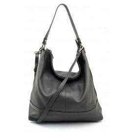 Kožená luxusní tmavě šedá kabelka přes rameno Laurel