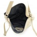 Kožená luxusní béžová taupe kabelka přes rameno laurel