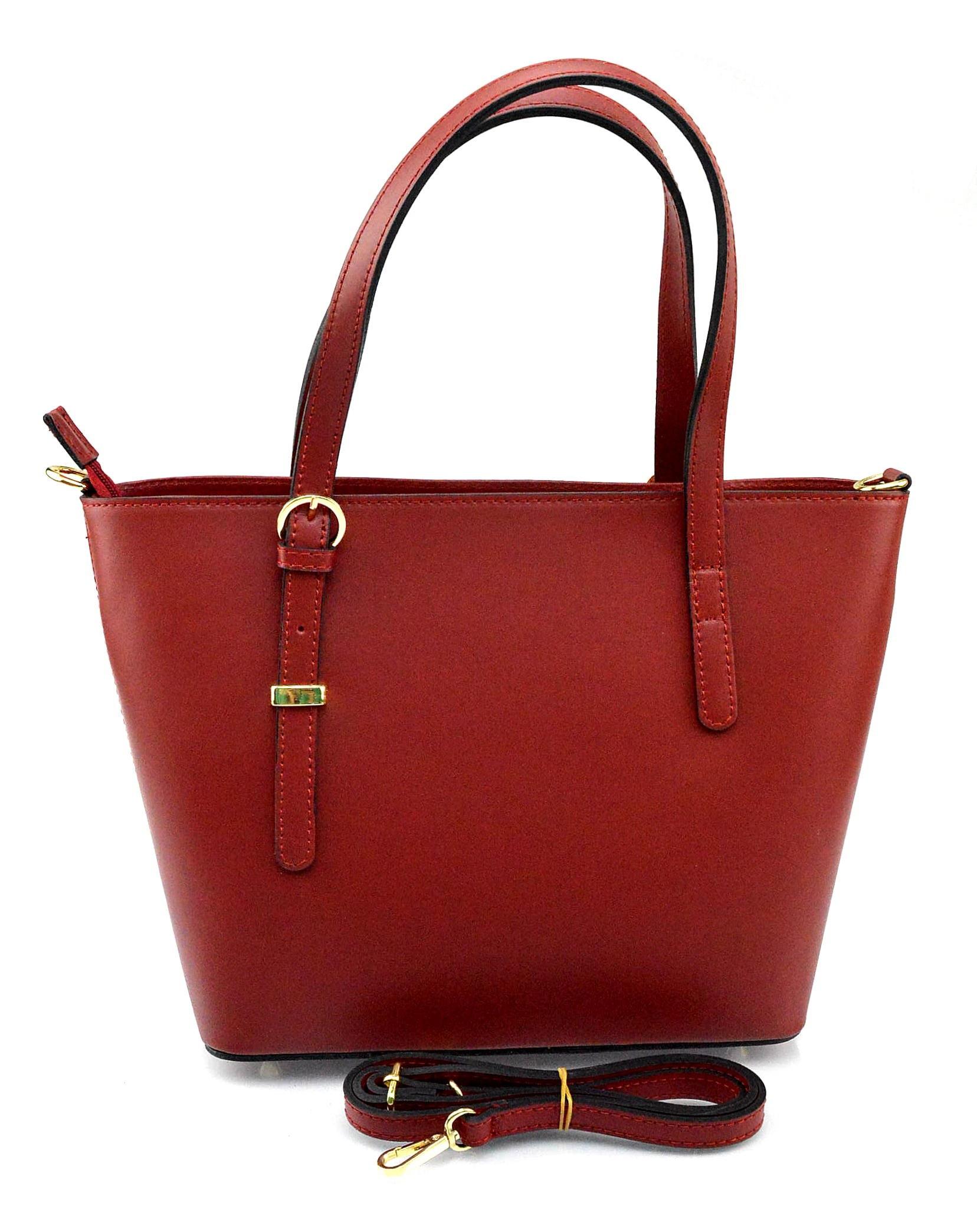 Kožená luxusní červená bordó kabelka přes rameno mirabelle