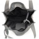 Kožená luxusní šedá kabelka přes rameno darci