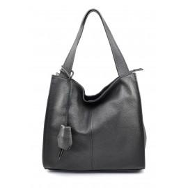 Kožená luxusní tmavě šedá kabelka přes rameno darci