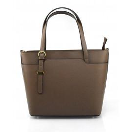 Kožená luxusní béžová taupe kabelka přes rameno mirabelle