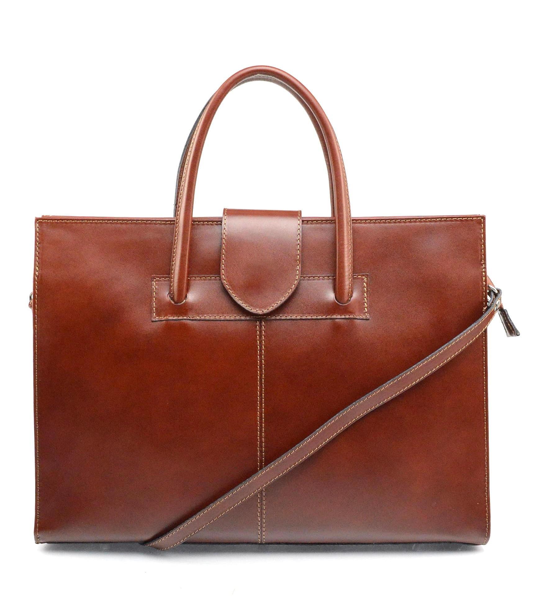 Kožená praktická hnědá brown kabelka Business two