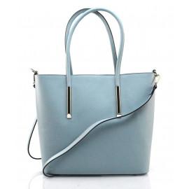 Kožená luxusní světle modrá kabelka přes rameno cherril