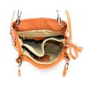 Kožená luxusní hnědá camel crossbody kabelka do ruky i přes rameno lorreine