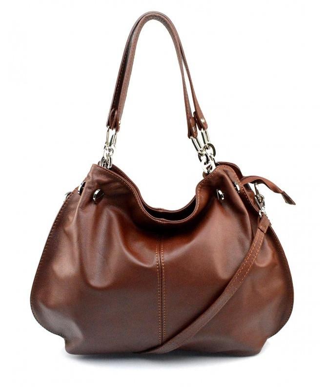 Kožená luxusní šedá kabelka do ruky i přes rameno lorreine