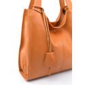 Kožená luxusní hnědá camel kabelka přes rameno Darci Little