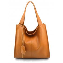 Kožená luxusní hnědá camel kabelka přes rameno darci