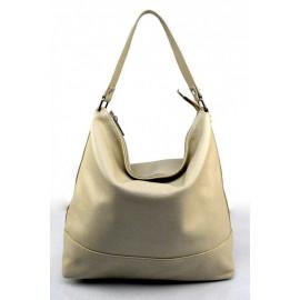 Kožená luxusní béžová beige kabelka přes rameno laurel