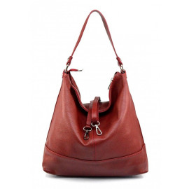Kožená luxusní sytě červená kabelka přes rameno laurel