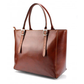 Kožená luxusní velká hnědá kabelka Havelan