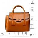 Kožená luxusní červená bordó kabelka do ruky Liana